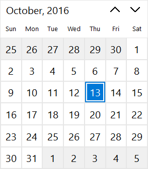 TCalendarView